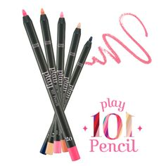 Etude House Play 101 Pencil Water proof pencil with tons of different colors. It does smudge on my eyes, but just slightly. The only bad side is that the pencil itself is so soft and brakes easily.