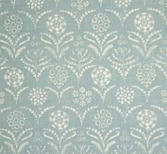 Paradeiza in Sky Blue from Lisa Fine Textiles #fabric #linen #blue Duck Egg