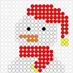 Kralenplank Sneeuwpop 5