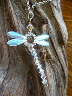 Handmade dragonfly pendant on Sterling silver by JasminDragonfly