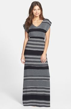FELICITY & COCO Stripe Blouson Maxi Dress (Nordstrom Exclusive) available at #Nordstrom