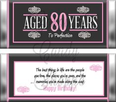 favors for 80 birthday parties - Google Search