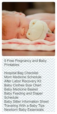 Free Baby and Pregnancy Printables- 50 Things to Know