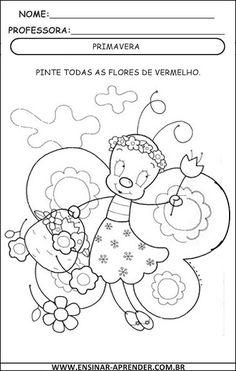 ATIVIDADES SOBRE A PRIMAVERA – PARA IMPRIMIR | Cantinho do Educador Infantil