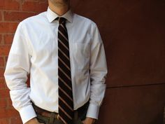 Vintage Striped Brown and Pink Tie by asevenletterword on Etsy, $14.00