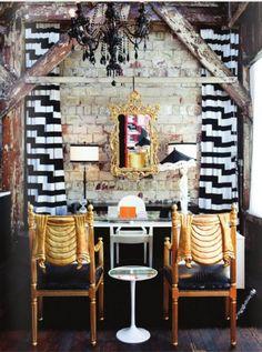 http://glitterandpearls.com/wp-content/uploads/2012/07/black-white-stripe-gold-interior-design.jpg