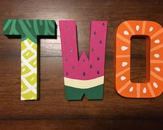 Two tti fruity birthday decorations Two-Tti-Fruity TWO Block Letters Fruit Birthday, Second Birthday Ideas, Girls Birthday Party Themes, Girl 2nd Birthday, Watermelon Birthday, Birthday Cup, Birthday Decorations, Fruit Party, First Birthdays