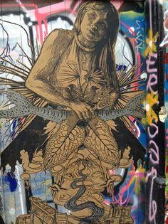 Artist: Swoon, Paris #streetart