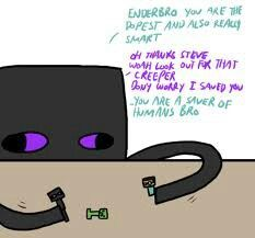 Enderbro playing with figurens of steve and enderbro
