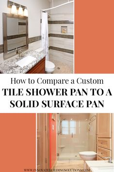 How to Compare a Custom Tile Shower Pan to a Solid Surface Pan Cheap Bathroom Remodel, Shower Remodel, Bath Remodel, Bathroom Remodeling Contractors, Home Remodeling, Bathroom Inspiration, Bathroom Ideas, Basement Bathroom, Shower Ideas
