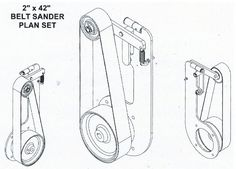 How to build a twin belt sander grinder including patters, molding and casting. Knife Grinder, Bench Grinder, 2x72 Belt Grinder Plans, Diy Belt Sander, Small Projects Ideas, Serra Circular, Blacksmithing Knives, Knife Making Tools, Welding Shop