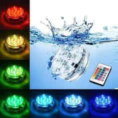 Lights & Lighting Spirited Swimming Pool Light Ip68 Piscine With Remote Control Rgb Submersible Light Durable Led Bulb Portable Underwater