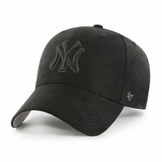 8b09f3c0e3801 New York Yankees 47 Brand All Black Ultra Clean Up Adjustable Hat