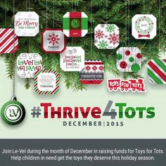Le-Vel is donating $5 for each sale of our Limited Edition Holiday DFT #wearablenutrition to #toysfortots #thrive4tots