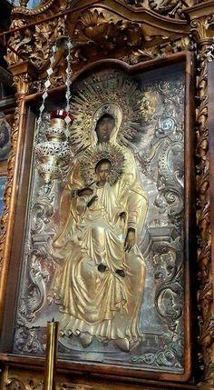 Εικόνα (ΚΤ) Virgin Mary Painting, Madonna And Child, Papa Francisco, Orthodox Icons, Holy Spirit, Black History, Christianity, Catholic, Mosaic