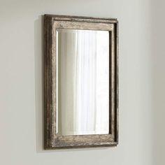 "Uttermost Allegan Silver Leaf 25"" x 36 3/4"" Wall Mirror - #9D098   Lamps Plus"