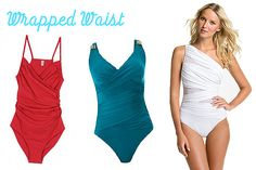I think wrapping around the waist helps with most middle aged women's look in a swimsuit!