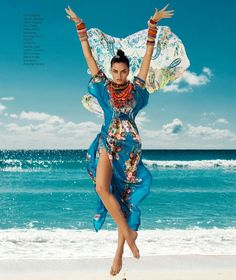 Harper's Bazaar Mexico July 2013 - The Harper's Bazaar Mexico July 2013 editorial is full of vibrant colors and energetic poses, which is only natural considering the beachside...