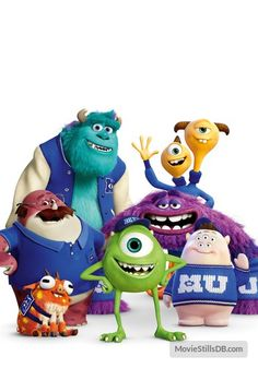 Art, Don, Mike, Squishy, Sulley, Terri and Terry