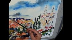 Ginette Callaway Painting #Siena Italy #Watercolor