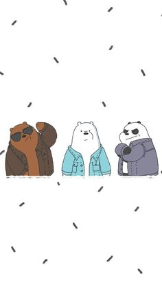 We bare bears! Bear Wallpaper, Emoji Wallpaper, Kawaii Wallpaper, Cute Wallpaper Backgrounds, Wallpaper Iphone Cute, We Bare Bears Wallpapers, Panda Wallpapers, Cute Cartoon Wallpapers, Ice Bear We Bare Bears