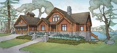 Log+Cabin+House+Plan+with+5140+Square+Feet+and+5+Bedrooms+from+Dream+Home+Source+ +House+Plan+Code+DHSW076107