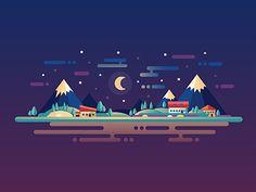 Night Landscape by Ilya Boyko
