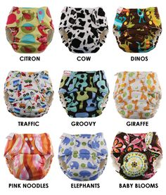 Blueberry One Size Bamboo Fitteds are the BEST overnight diaper. We have the Cow, Dinos, Traffic, Giraffe, Elephant, and Monkeys prints. Blueberry/Swaddlebees have the cutest prints around. Made in the U.S.A.