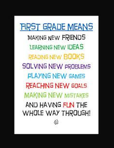First Grade is the best!