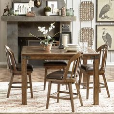 The Puluxy 7 Piece Dining Set Makes Having A Meal All The