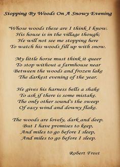 Robert Frost is one of my favorite Poets!