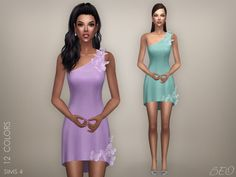 Butterflies - short dress for The Sims 4 by BEO