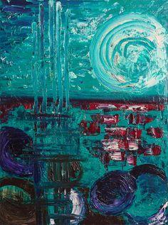 Quintali d'attimi (Notturno) - Olio su tela - 60×80 cm - 2011