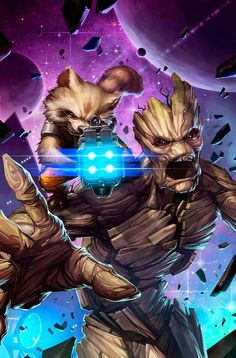 Guardians Of The Galaxy: The Greatest Rocket Racoon and Groot Fan Art
