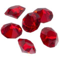 Blue La Rue Crystal Birthstone Set (£11) ❤ liked on Polyvore featuring jewelry, red, crystal jewellery, red jewelry, crystal stone jewelry, locket jewelry and birthstone jewellery