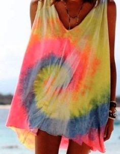 Hot Summer Tie dye cover-ups.