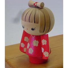 Vintage Wooden Large Female Kokeshi Doll