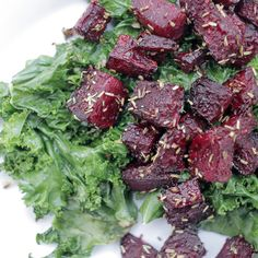 rosemary beets with garlicky kale. Two vegetables in my winter organic vegetable delivery.