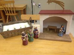 Catechesis of The Good Shepherd Level 1 Atrium at Sacred Heart in Aberdeen SD.Figures from Faith Expressions, Diorama from The Catechists Husband. Gift of the Magi
