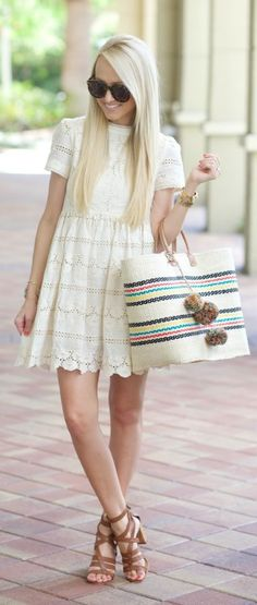 Lace Baby Doll Dress Summer Style by A spoonful of Style