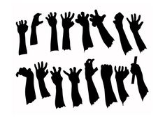 zombie hands silhouettes template - Google Search