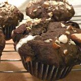 Double Chocolate-Marshmallow Rocky Road Muffins, Recipe from Cooking.com
