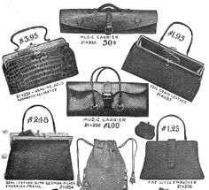 Victorian handbag advertisement. late 1800's - Don't you wish you could get a purse for so little?