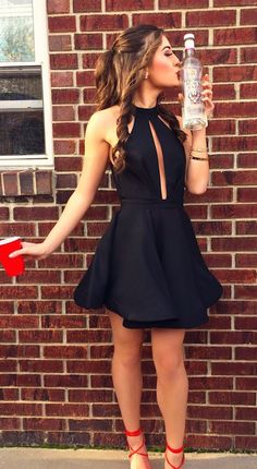 2017 homecoming dresses,black homecoming dresses,homecoming dresses short,keyhole homecoming dresses @simpledress2480
