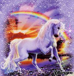rainbows and unicorns and glitter -