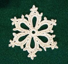 Ravelry: Irish Crochet Snowflake pattern by Courtney Brock~Free Pattern