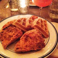 Chicken and Waffles from Sweet Chick in the Lower East Side