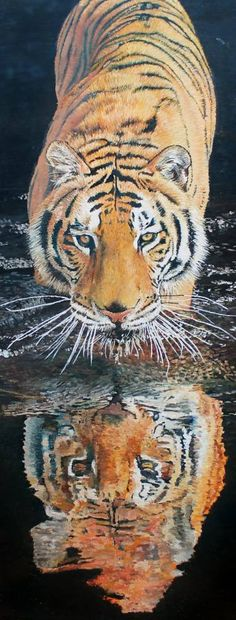 "Saatchi Art Artist Wesley Joubert; Painting, ""Stealthy Tiger"" #art"