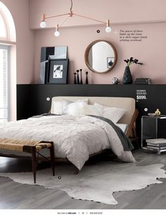 80+ Cute Bedroom Design Ideas Pink Green Walls http://qassamcount.com/80-cute-bedroom-design-ideas-pink-green-walls/