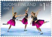 Alkuvuoden 2015 postimerkit juhlistavat ystävänpäivää, muodostelmaluistelua ja Suomen taiteilijaseuraa - Posti Stamps, Ballet Skirt, Paper, Fashion, Finland, Seals, Moda, Tutu, Fashion Styles